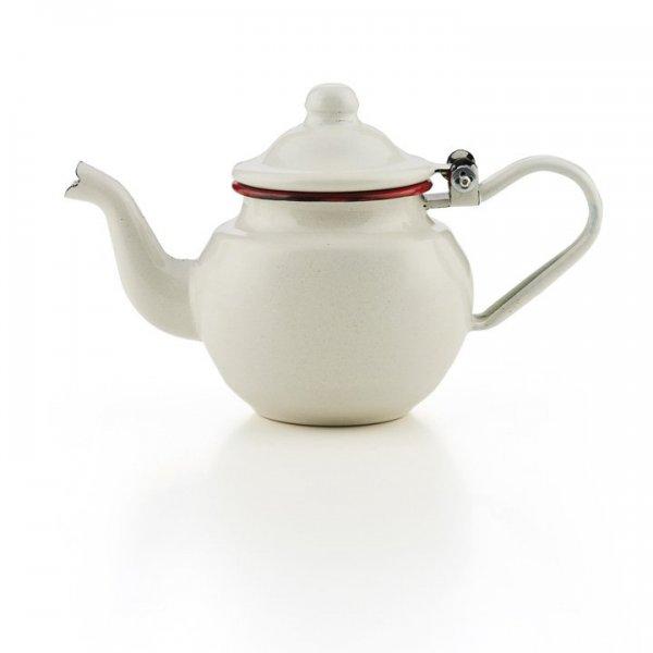 Emaille Teekännchen 0,5 Liter Teekanne Bordeaux