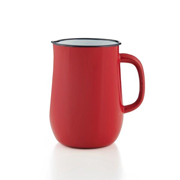 Emaille Wasserkanne, Wasserkrug, Krug, Vase rot