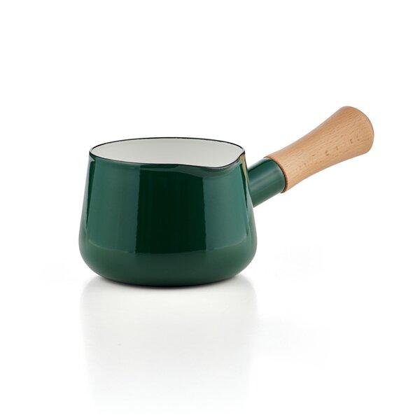 Stieltopf Milchtopf Emaille Stielkasserolle Buttertopf grün Solid Line