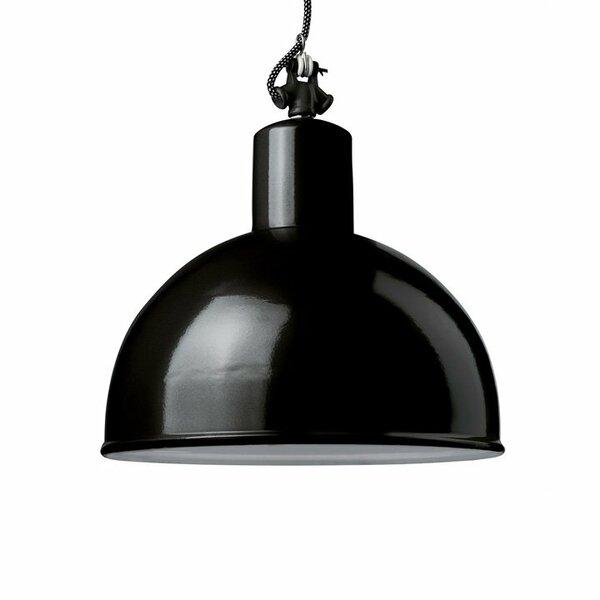 Gics Emaille Lampe Rundstrahler 350 schwarz