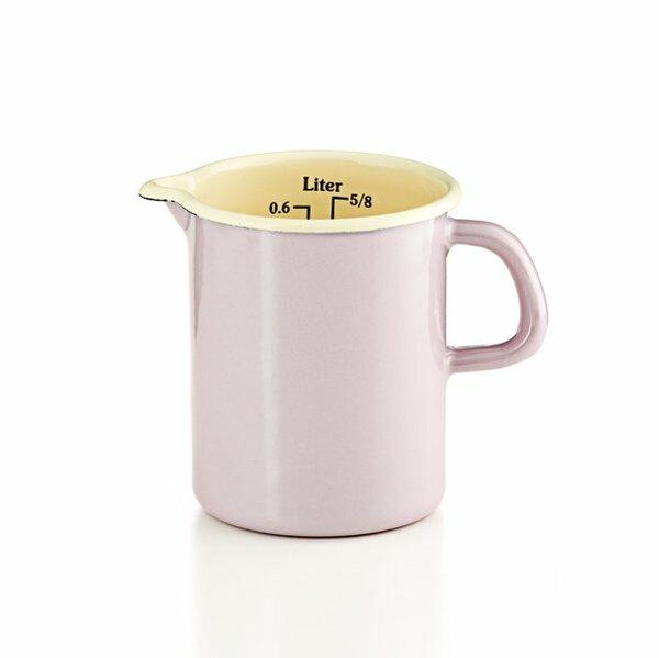 riess emaille küchenmaß litermaß rosa pastell
