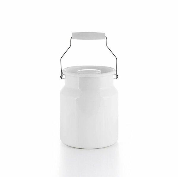Emaille riess Tragekanne weiß 2 Liter