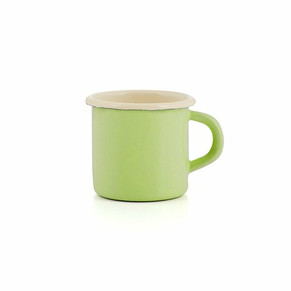 Emaille Tasse grün Becher