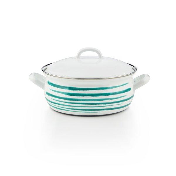 riess emaille kasserolle 18cm grün geflammt