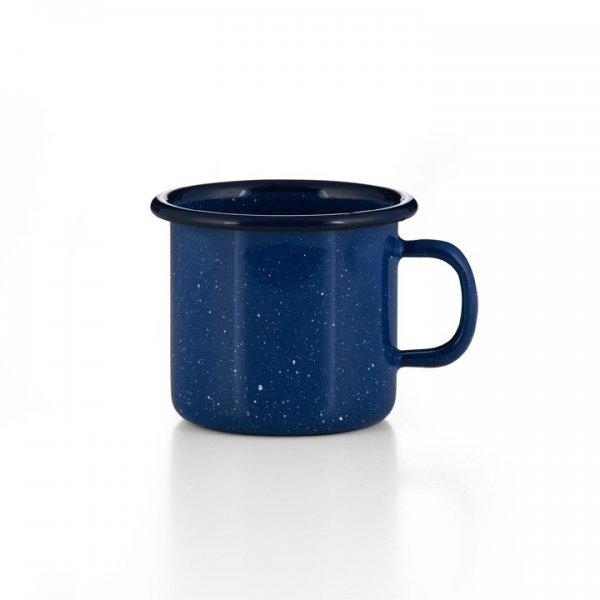 Emaille Tasse blau gesprenkelt