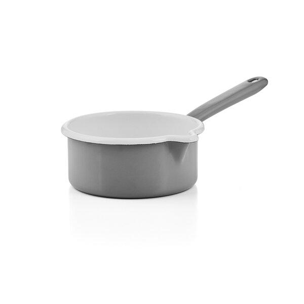 """Riess Emaille Stielkasserolle """"Pure Grey """" grau"""