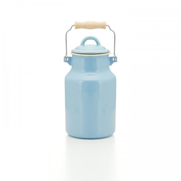 Emaille Milchkanne blau 2 Liter