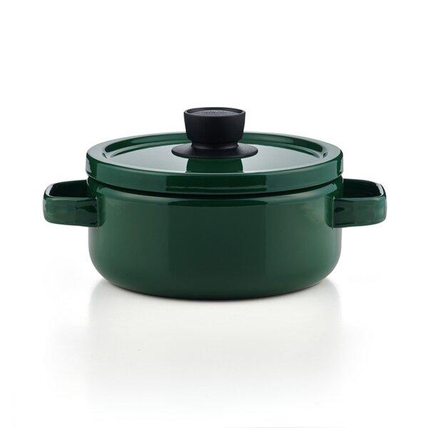 Emaille Topf grün Kasserolle