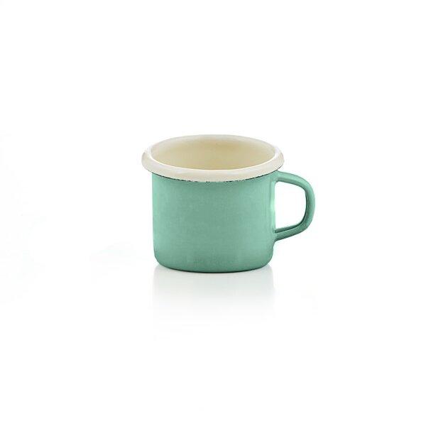 Emaille Espressotasse mintgrün