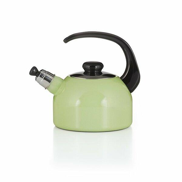 Riess Emaille Flötenkessel Color Grün Wasserkessel