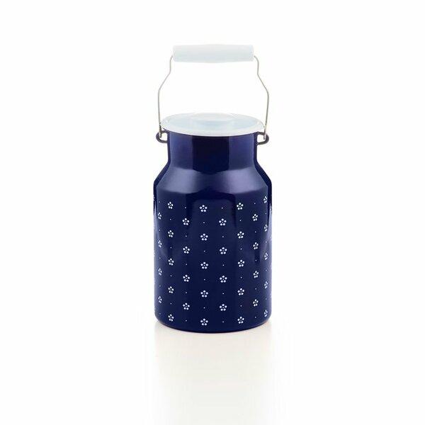 Emaille riess Milchkanne Blümchenblau 2 Liter