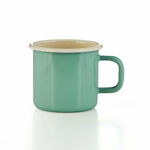 Emaille Tasse Becher mintgrün hellgrün
