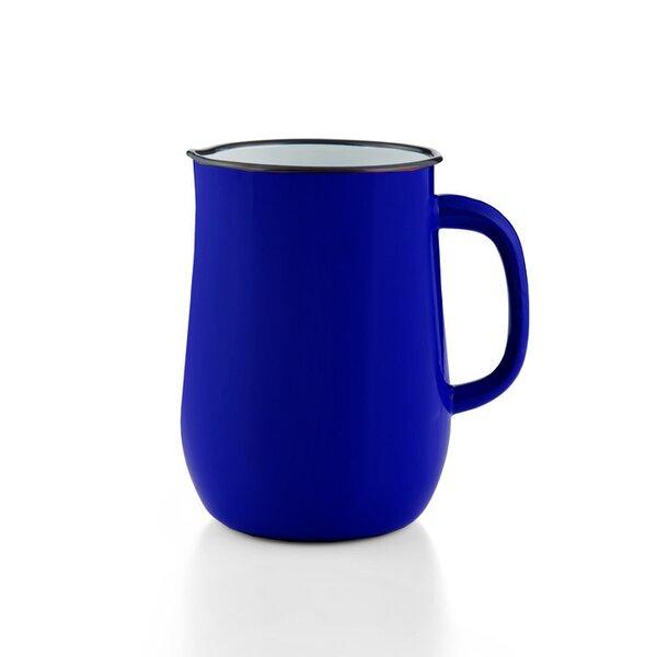 Emaille Wasserkanne, Wasserkrug, Krug, Vase dunkelblau