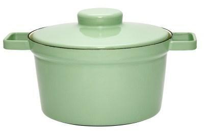 topf mit deckel 24cm slow green aromapots liv emaille online shop. Black Bedroom Furniture Sets. Home Design Ideas