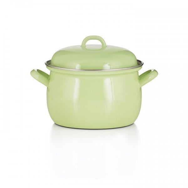 Riess Emaille Fleischtopf Color Grün 3,5 Liter