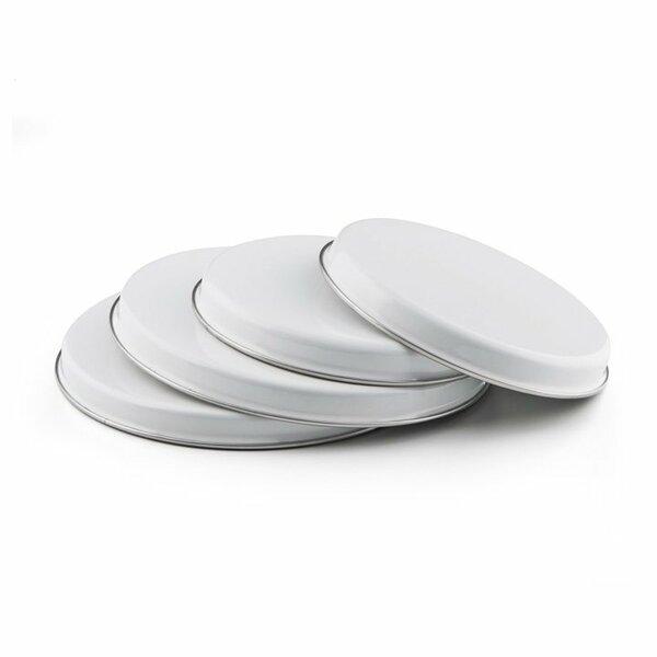 Emaille Herdabdeckplatte Set weiß