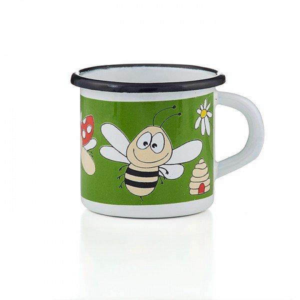 Emaille Kindertasse Biene Marienkäfer