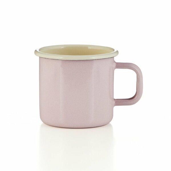 Emaille Tasse Becher rosa
