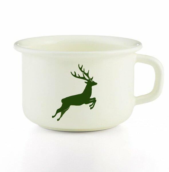 Riess emaille kaffeeschale hirsch grün