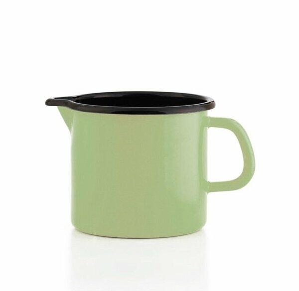 Riess Schnabeltopf grün Emaille 1 Liter