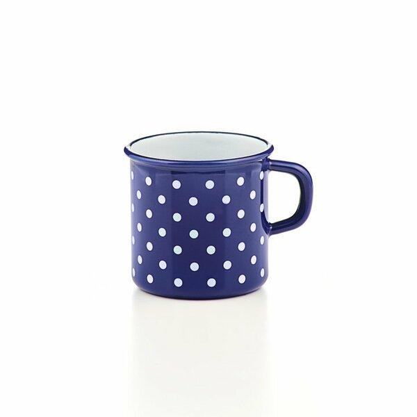 Riess Topf mit Bördel Tasse Pünktchenblau  3/8 Liter