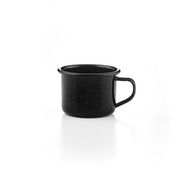 GSI Emaille Espressotasse schwarz