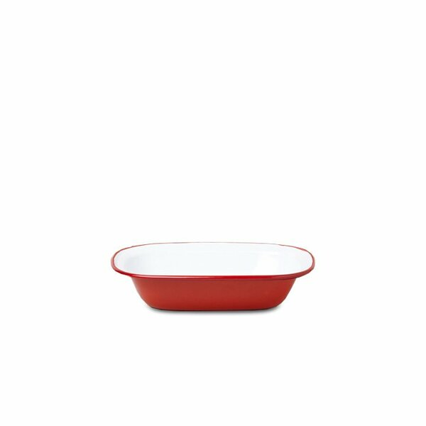 Falcon Emaille Pie Dish Ofenschale rot