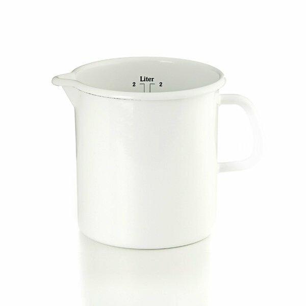 Riess Emaille Küchenmaß Litermaß Meßbecher 2 Liter