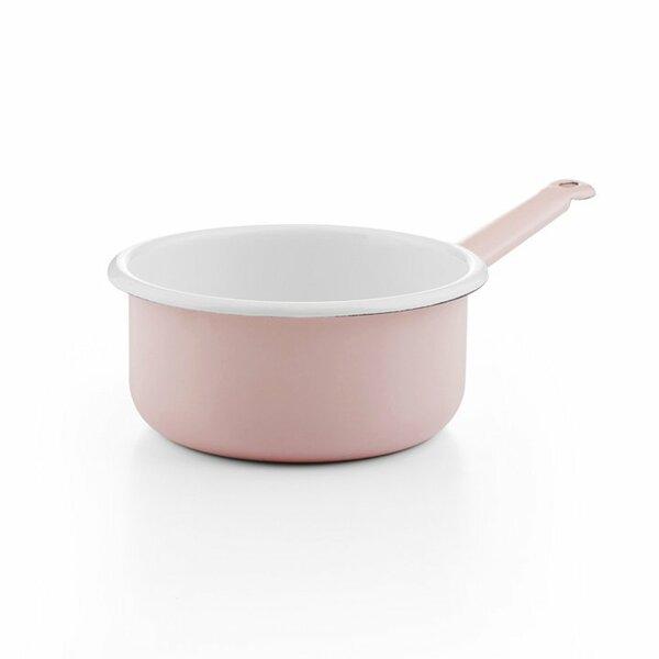 Emaille Stielkasserolle rosa 16cm