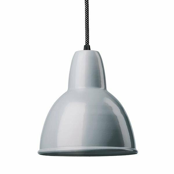 Emaille Lampe 170 Tiefstrahler blaugrau