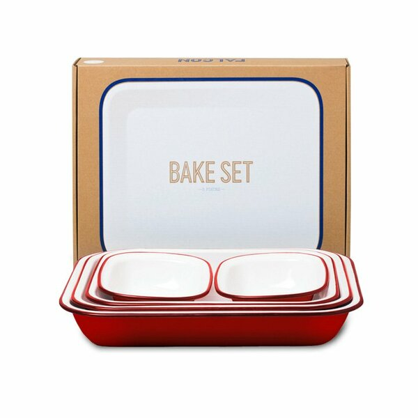 Falcon Emaille Bake Set rot