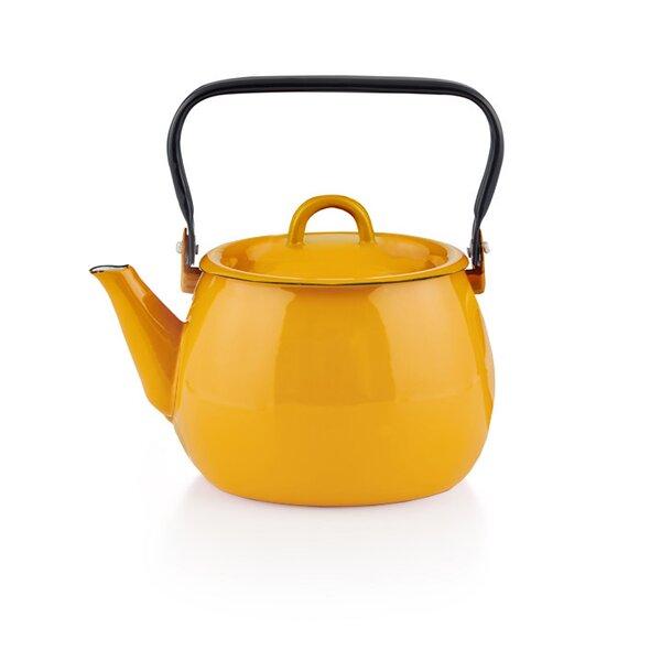 Emaille Wasserkessel gelb Teekessel