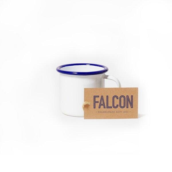 Falcon Emaille Espressotasse Espresso Tasse weiß blau