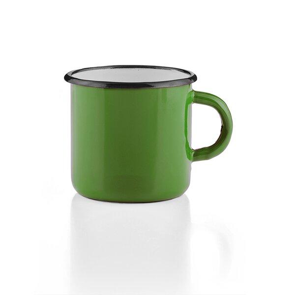 Emaille Tasse Becher grün Emaiilebecher