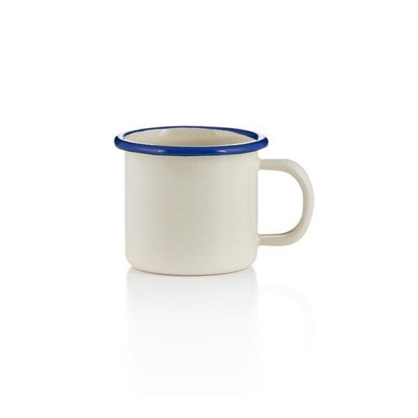 Emaille becher tasse 6cm creme