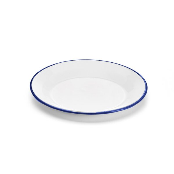 Emaille Teller weiß 18cm Tellerchen Frühstücksteller