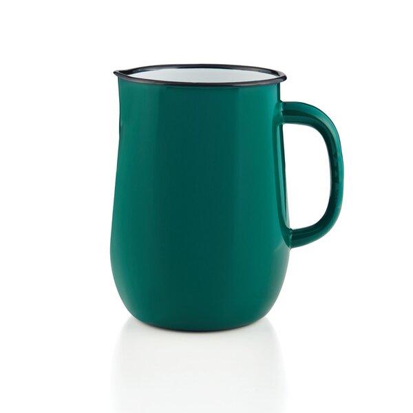 Emaille Wasserkanne, Wasserkrug, Krug, Vase petrol