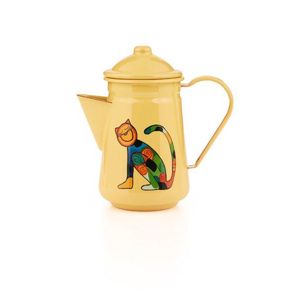 Emaille Kinder Kaffeekanne Zoo gelb