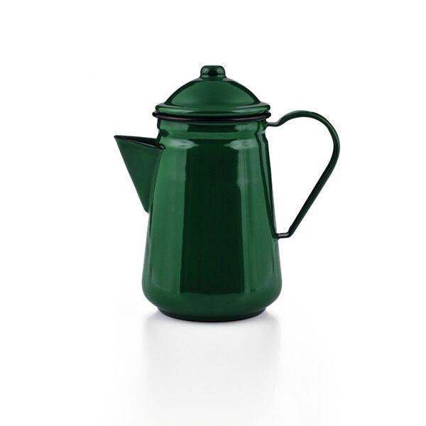 Emaille Kaffeekanne grün