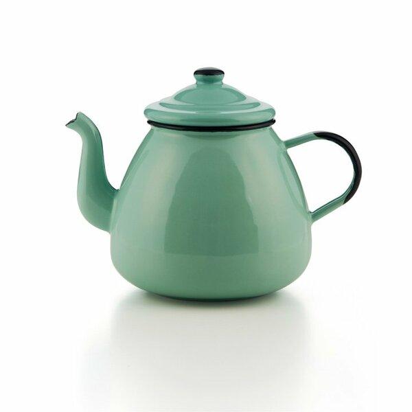 Emaille Teekanne hellgrün