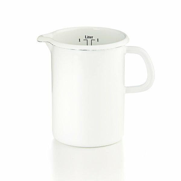Riess Emaille Küchenmaß Litermaß 1 Liter weiß