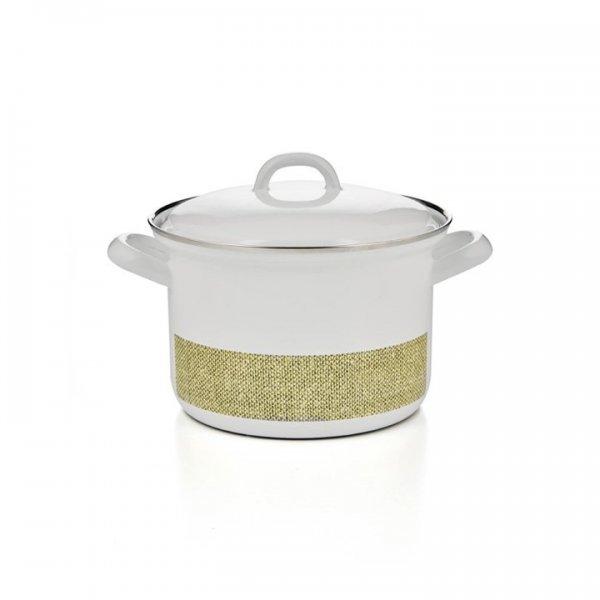 Riess Emaille Fleischtopf Linea 1,5 Liter grün