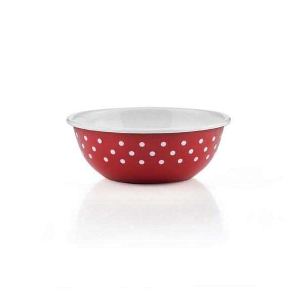 Riess Emaille Küchenschüssel 16cm Pünktchen Rot