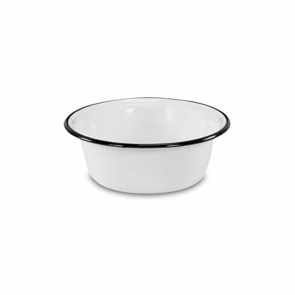 Emaille Schüssel Schale 20cm weiß