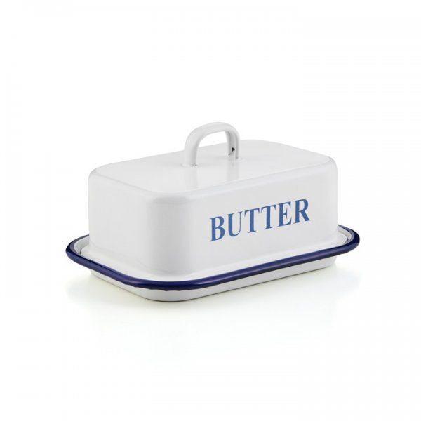 Emaille Butterdose