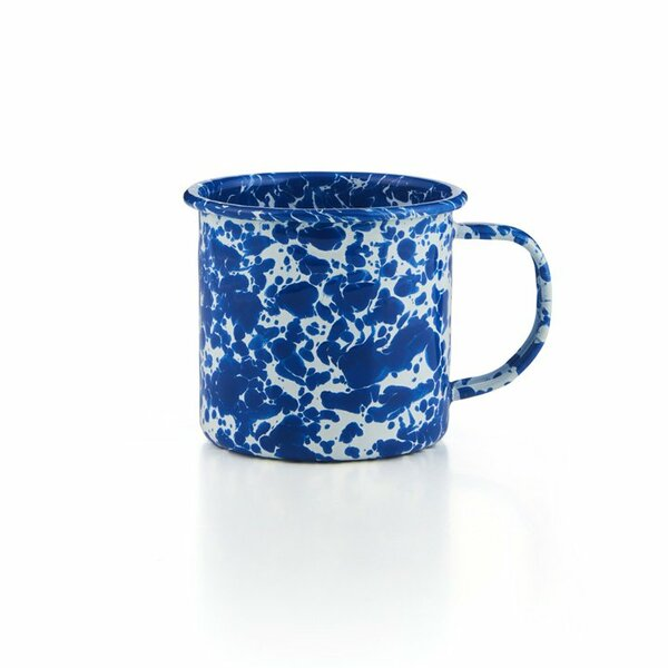 Crow Canyon Emaille Tasse blauer Marmor 350ml