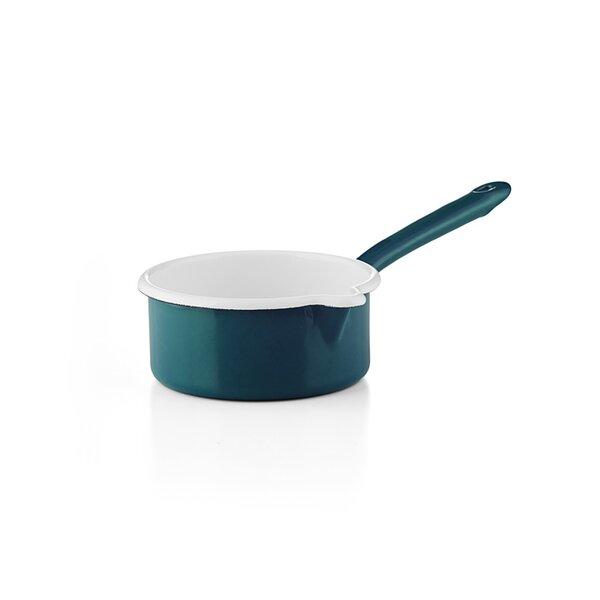 """Riess Emaille Stielkasserolle""""Cera Glas Blue"""" blau"""
