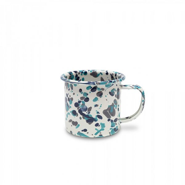 Crow Canyon Emaille Tasse CATALINA Blue Tides Marmor 350ml