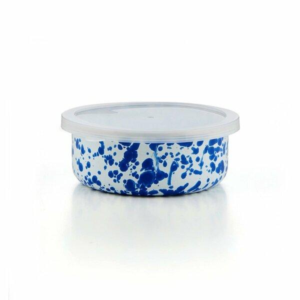 Crow Canyon Emaille Schüssel mit Deckel blauer Marmor