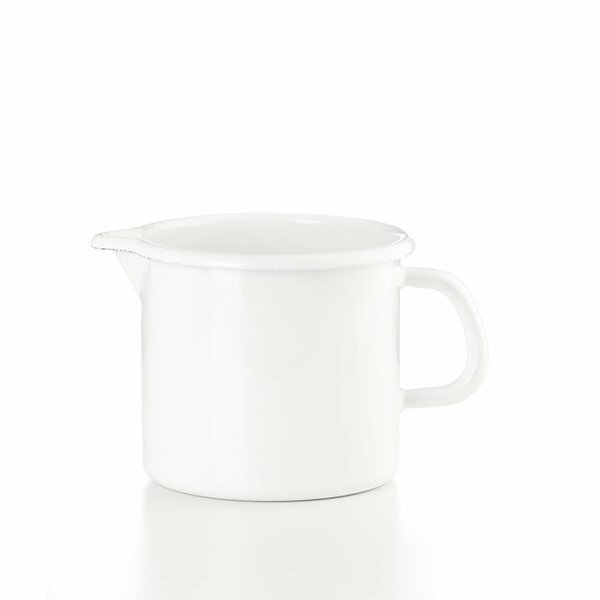 Riess Schnabeltopf weiss Emaille 1 Liter